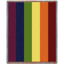Rainbow Tapestry Throw