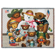 Gangs All Here - Charles Wysocki - Cotton Woven Blanket Throw - Made in the USA (72x54) Tapestry Throw