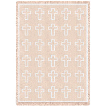 Cross White Natural Blanket Afghan