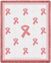 Pink Ribbon Blanket Afghan
