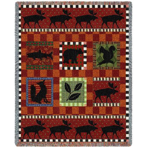 Adirondack Lodge by Walter Robertson Tapestry Throw