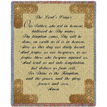 The Lord's Prayer - Tapestry Throw
