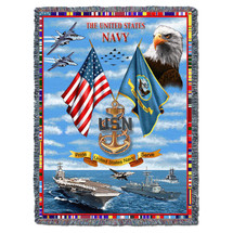 US Navy Tapestry Throw