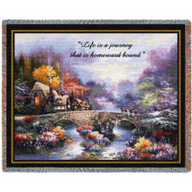 Going Home - Life Is A Journey That Is Homeward Bound - Sympathy - Tapestry Throw