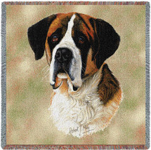 Saint Bernard by Robert May Lap Square