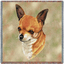 Chihuahua - Robert May - Lap Square Cotton Woven Blanket Throw - Made in the USA (54x54) Lap Square