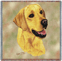 Labrador Retriever Yellow Lab by Robert May Lap Square
