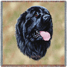 Newfoundland - Robert May - Lap Square Cotton Woven Blanket Throw - Made in the USA (54x54) Lap Square