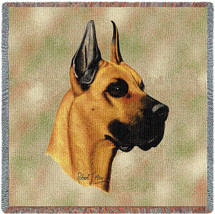 Great Dane - Robert May - Lap Square Cotton Woven Blanket Throw - Made in the USA (54x54) Lap Square