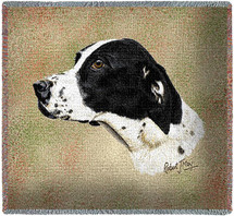 German Short Haired Pointer - Robert May - Lap Square Cotton Woven Blanket Throw - Made in the USA (54x54) Lap Square
