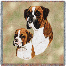 Boxer with Puppy by Robert May Lap Square