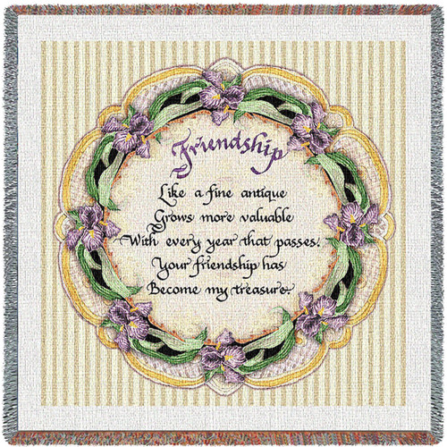 Friendship Poem - Lap Square