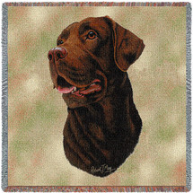 Labrador Retriever Chocolate Lab - Lap Square
