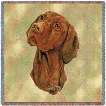 Vizsla - Robert May - Lap Square Cotton Woven Blanket Throw - Made in the USA (54x54) Lap Square