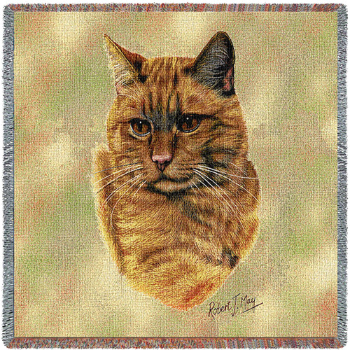 Red Tabby Cat by Robert May Lap Square