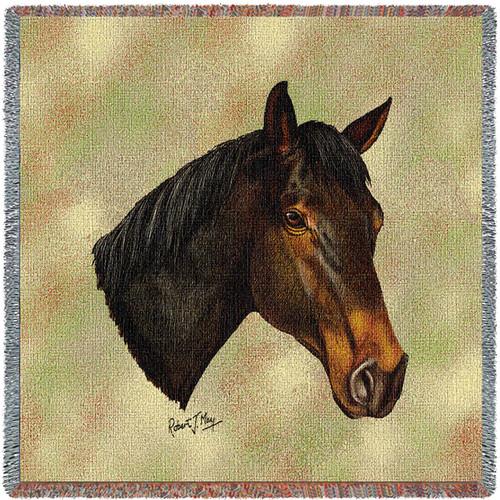 Thoroughbred Dark Brown Horse - Lap Square