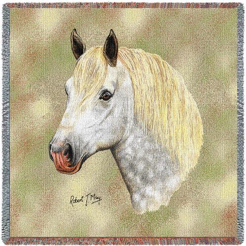 Percheron Horse by Robert May Lap Square