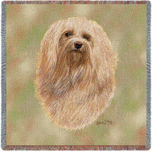 Havanese - Robert May - Lap Square Cotton Woven Blanket Throw - Made in the USA (54x54) Lap Square