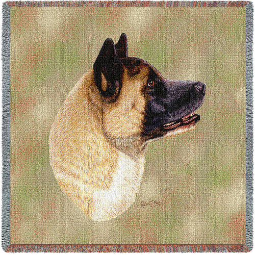 Akita by Robert May Lap Square