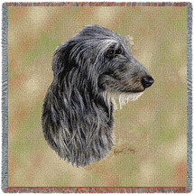 Scottish Deerhound - Robert May - Lap Square Cotton Woven Blanket Throw - Made in the USA (54x54) Lap Square