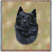 Schipperke - Robert May - Lap Square Cotton Woven Blanket Throw - Made in the USA (54x54) Lap Square