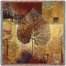 Abstract Autumn by Jae Dougall Lap Square