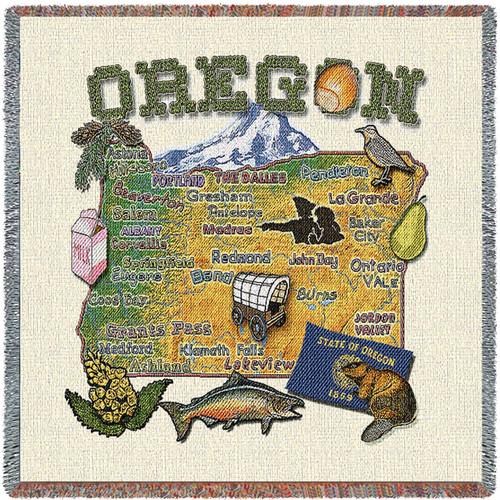State of Oregon Lap Square