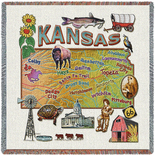 State of Kansas Lap Square