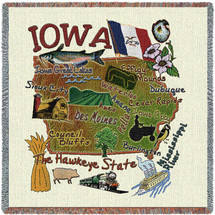 State of Iowa Lap Square