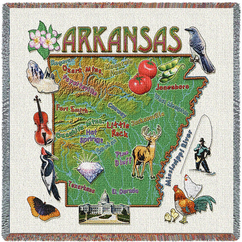 State of Arkansas Lap Square