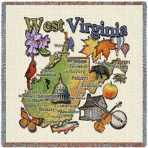 State of West Virginia Lap Square