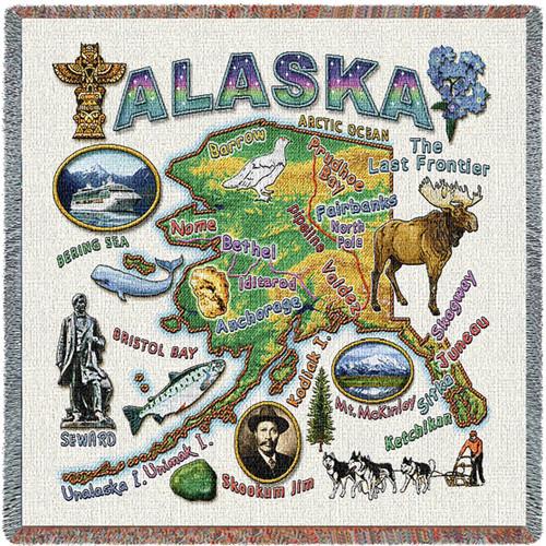 State Of Alaska Lap Square
