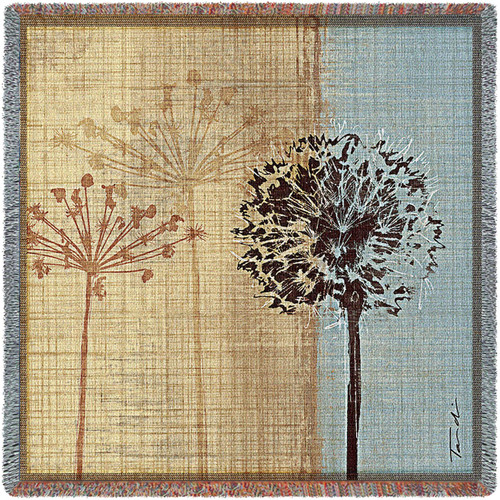 In the Breeze by Tandi Venter - Lap Square Cotton Woven Blanket Throw - Made in the USA (54x54) Lap Square