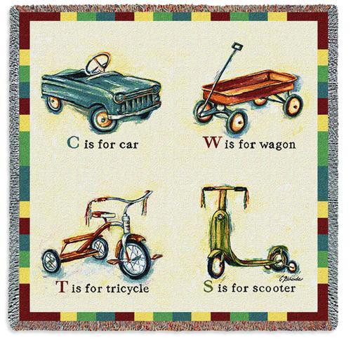 Car Wagon Tricycle Scooter by Catherine Richards Lap Square
