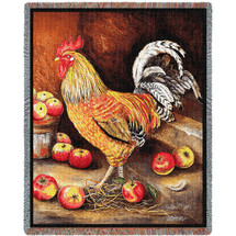 English Cockerel Rooster - Tapestry Throw