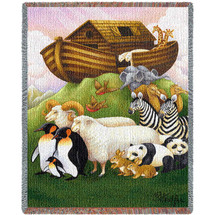 Exiting The Ark Mini Blanket Tapestry Throw