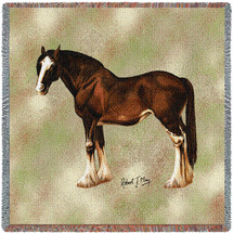 Clydesdale Horse - Lap Square