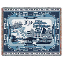 Blue Willow- Tapestry Throw