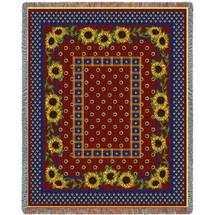 Sunflowers Splendor - Tapestry Throw
