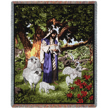 Psalm 23 - Jesus - Tapestry Throw