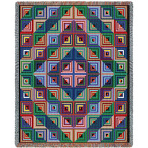 Quilt - Log Cabin - Tapestry Throw