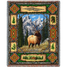 Elk Lodge - Tapestry Throw
