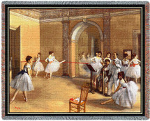 The Foyer of the Opera at Rue Le Peletier - Edgar Degas - Cotton Woven Blanket Throw - Made in the USA (72x54) Tapestry Throw