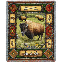 Buffalo Lodge - Tapestry Throw