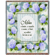 Mother - A Teacher A Counselor A Woman A Friend - Tapestry Throw