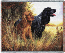 Cocker Spaniel - Robert May - Cotton Woven Blanket Throw - Made in the USA (72x54) Tapestry Throw