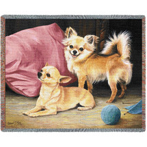 Chihuahua - Robert May - Cotton Woven Blanket Throw - Made in the USA (72x54) Tapestry Throw