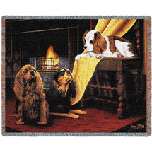 Cavalier King Charles Spaniel - Robert May - Cotton Woven Blanket Throw - Made in the USA (72x54) Tapestry Throw