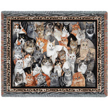 Purrfect Cats - Tapestry Throw