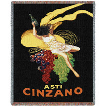 Asti Cinzano - Vintage Poster - Tapestry Throw